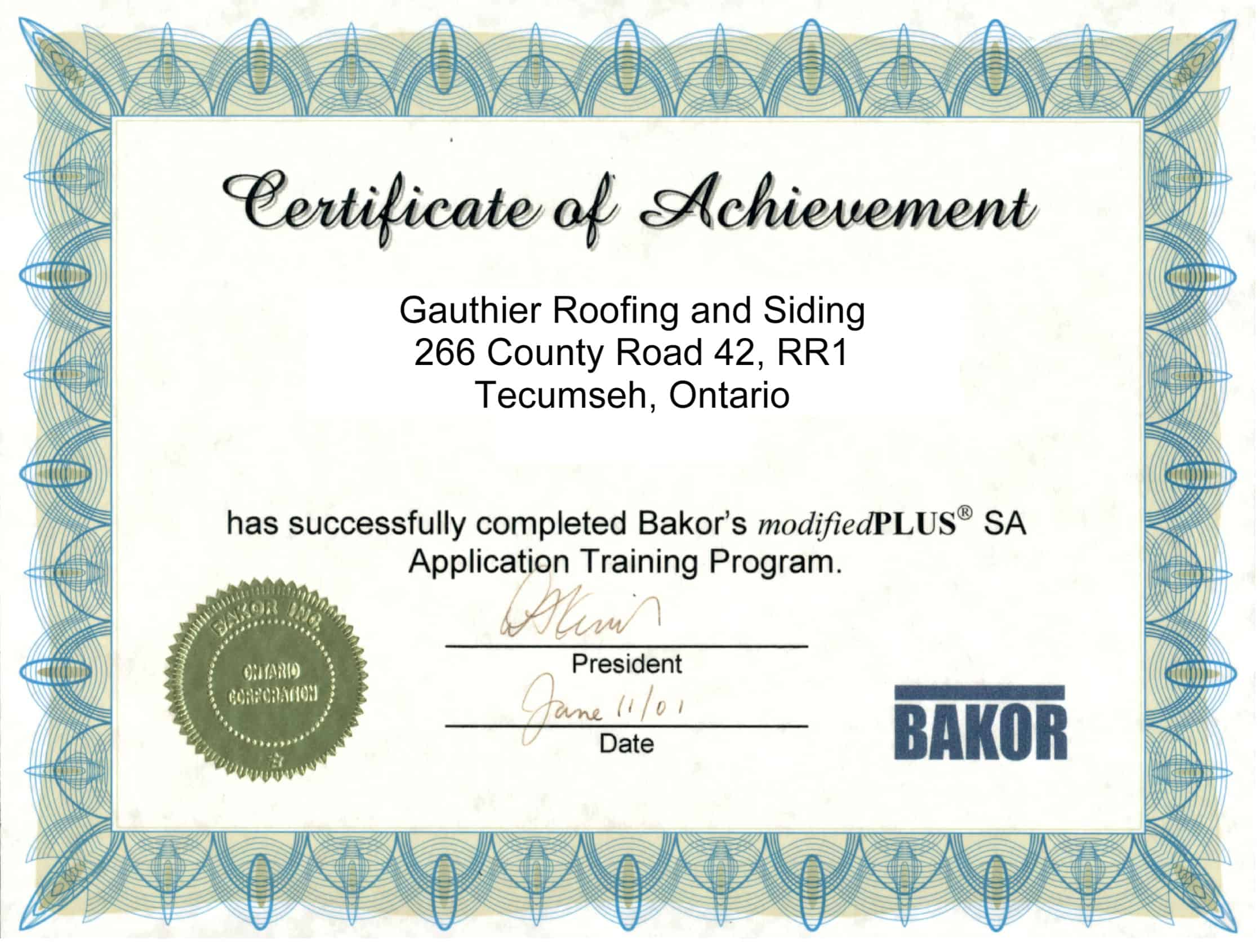 Gauthier Roofing And Siding Credentials Serving