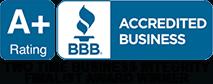 Better Business Bureau A+ Accreditation Badge