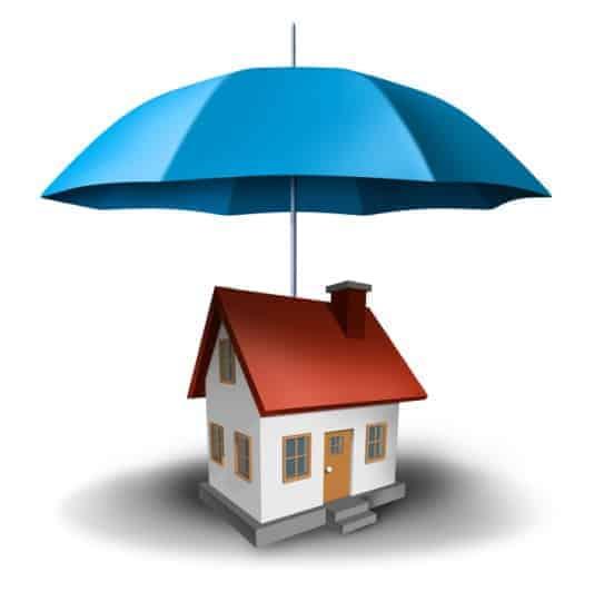 House with umbrella